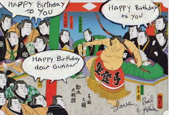 Japanese birthday Card