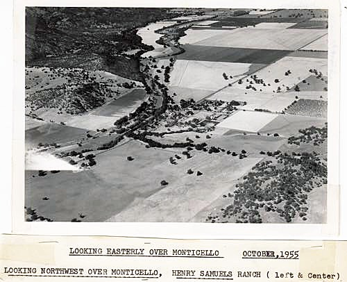 Monticello From Air 1955