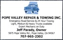 Pope Valley Towing
