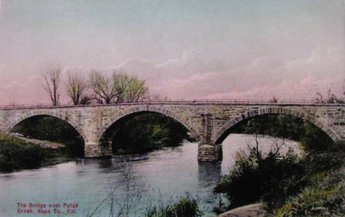 Putah Creek Stone Bridge Color1