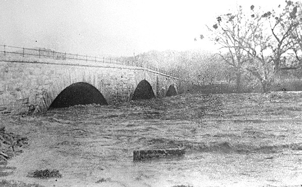 Putah Creek Stone Bridge Flood