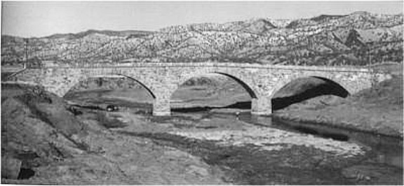 Putah Creek Stone Bridge Low