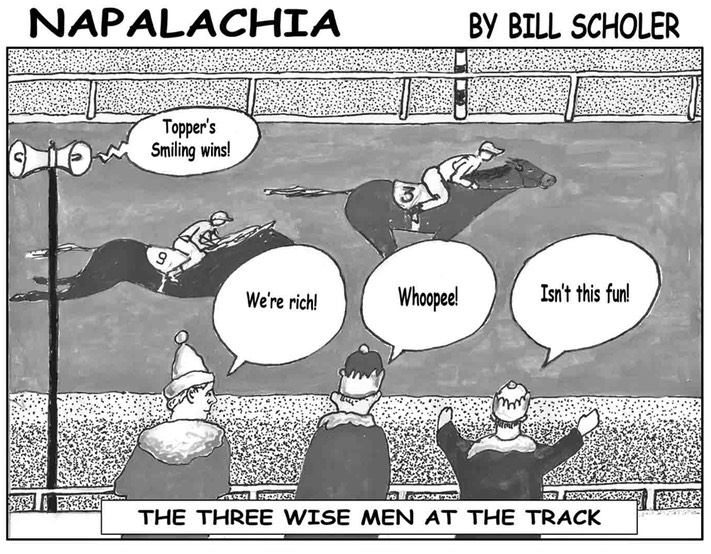 Three Wise Men at Track