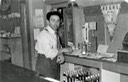 Man behind bar