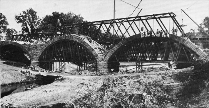 Putah Creek Stone Bridge Construction